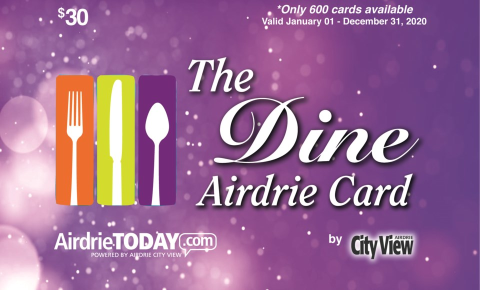 Best Meal Delivery Service 2020.2020 Dine Airdrie Cards Now Available Airdrietoday Com